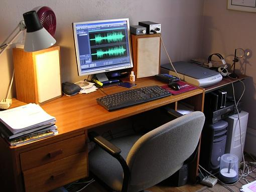 speakers reborn as LS3/5a clone-computer_desk.jpg